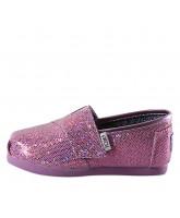 Toms Classics lilla glitter