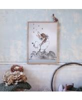 Wand decoratie MISS EDDA