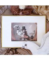 Wand decoratie MISS LUCY MINI PRINT