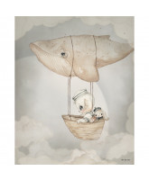 Wand decoratie FLYING WHALE