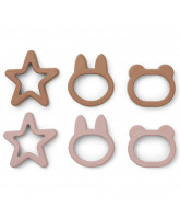 Kinderservies Andy cookie cutter 6-pack