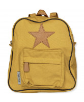 Rugzak Back Pack, with leather Star