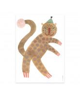 Wand decoratie Leopard Elvis