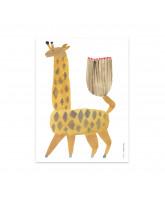 Wand decoratie Noah Giraffe