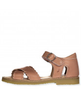 Open sandalen Cross-over scallop